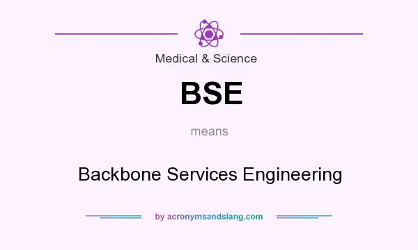 What does BSE mean? It stands for Backbone Services Engineering