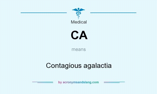 What does CA mean? It stands for Contagious agalactia