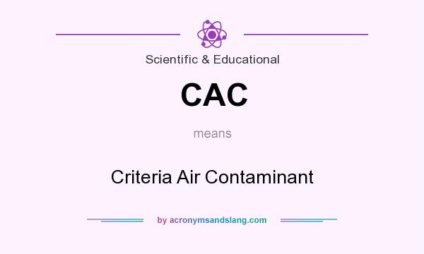 What does CAC mean? It stands for Criteria Air Contaminant