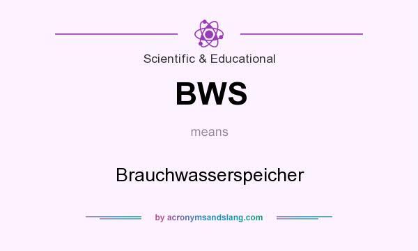 What does BWS mean? It stands for Brauchwasserspeicher