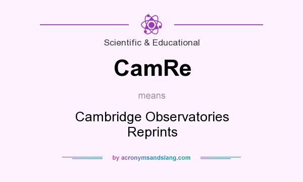 What does CamRe mean? It stands for Cambridge Observatories Reprints