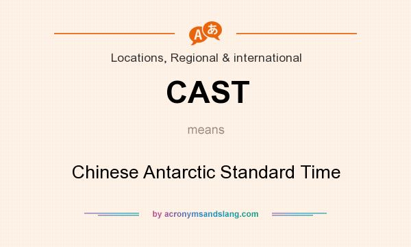 What does CAST mean? It stands for Chinese Antarctic Standard Time