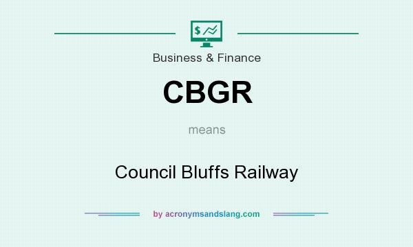 What does CBGR mean? It stands for Council Bluffs Railway