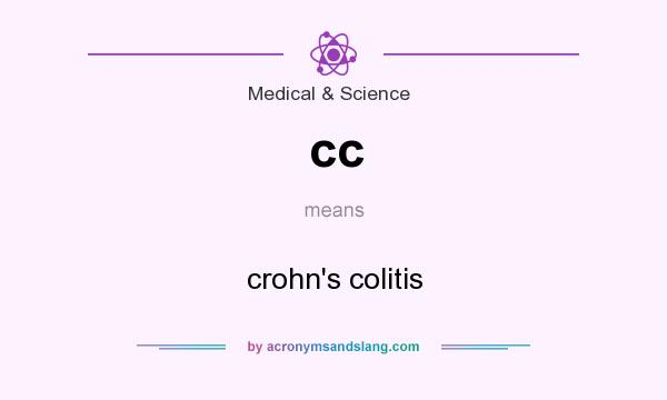What does cc mean? It stands for crohn`s colitis