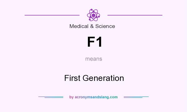 What does F1 mean? It stands for First Generation