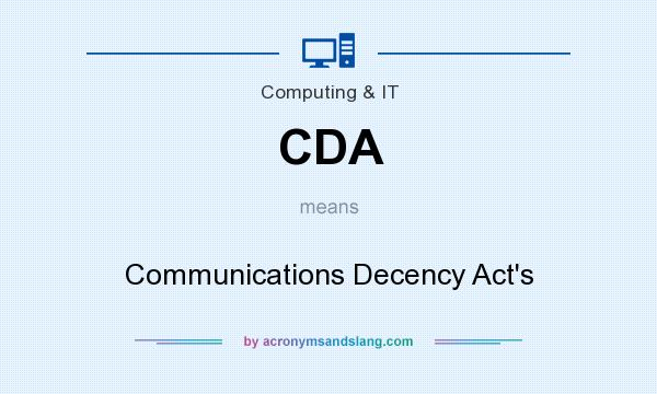 What does CDA mean? It stands for Communications Decency Act`s