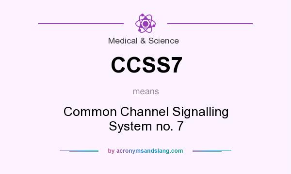 What does CCSS7 mean? It stands for Common Channel Signalling System no. 7