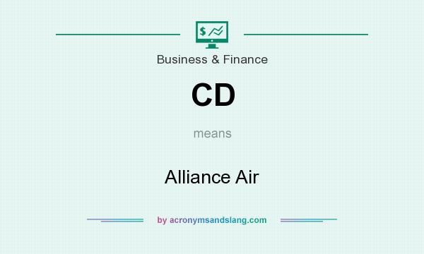 What does CD mean? It stands for Alliance Air