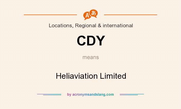 What does CDY mean? It stands for Heliaviation Limited
