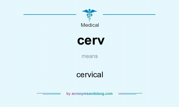 What does cerv mean? It stands for cervical