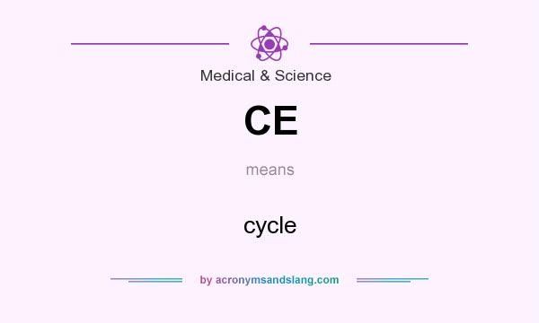 What does CE mean? It stands for cycle