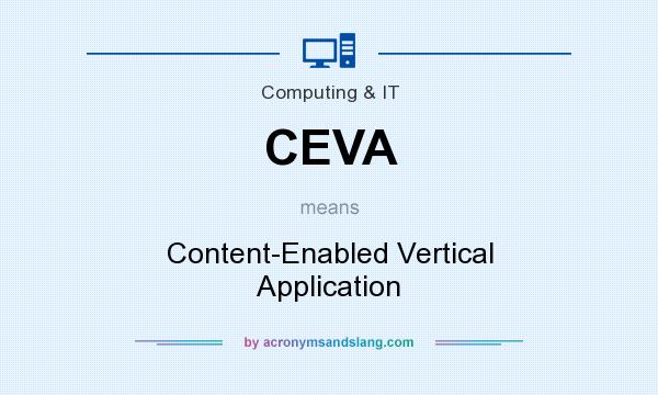 What does CEVA mean? It stands for Content-Enabled Vertical Application