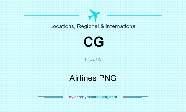 What does CG mean? It stands for Airlines PNG