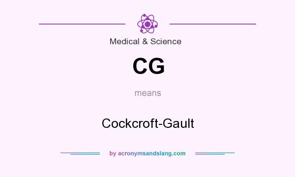 What does CG mean? It stands for Cockcroft-Gault