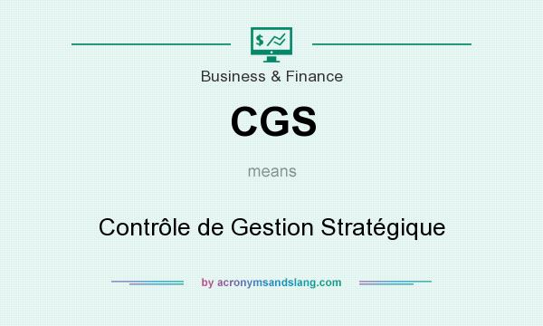 What does CGS mean? It stands for Contrôle de Gestion Stratégique