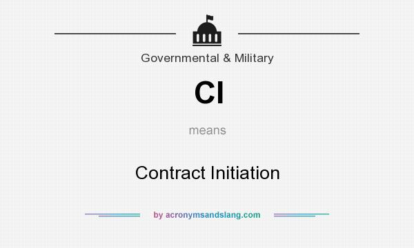 What does CI mean? It stands for Contract Initiation
