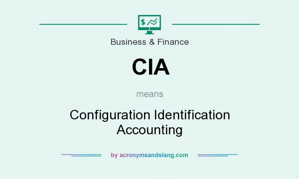 What does CIA mean? It stands for Configuration Identification Accounting