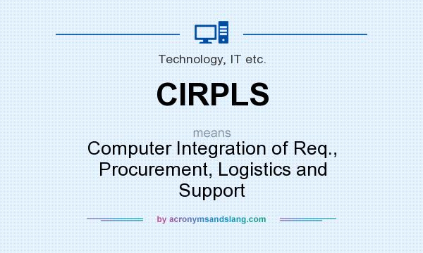 What does CIRPLS mean? It stands for Computer Integration of Req., Procurement, Logistics and Support