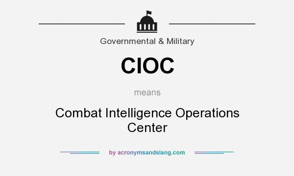 What does CIOC mean? It stands for Combat Intelligence Operations Center
