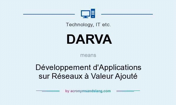 What does DARVA mean? It stands for Développement d`Applications sur Réseaux à Valeur Ajouté