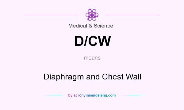 What does D/CW mean? It stands for Diaphragm and Chest Wall