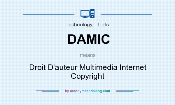 What does DAMIC mean? It stands for Droit D`auteur Multimedia Internet Copyright