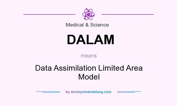 What does DALAM mean? It stands for Data Assimilation Limited Area Model