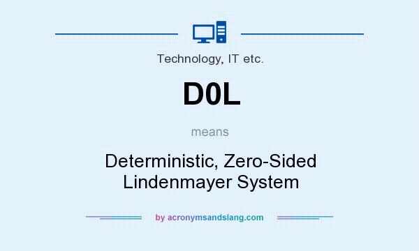 What does D0L mean? It stands for Deterministic, Zero-Sided Lindenmayer System