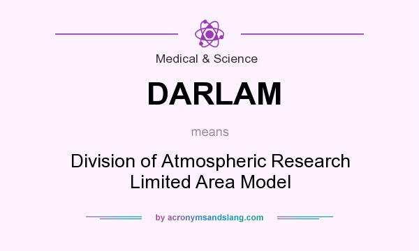 What does DARLAM mean? It stands for Division of Atmospheric Research Limited Area Model