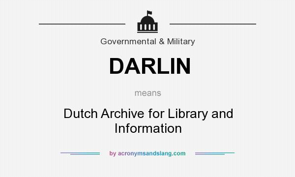 What does DARLIN mean? It stands for Dutch Archive for Library and Information