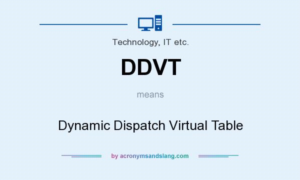What does DDVT mean? It stands for Dynamic Dispatch Virtual Table