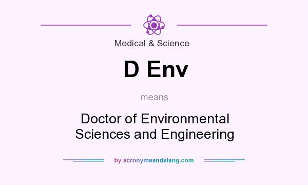 What does D Env mean? It stands for Doctor of Environmental Sciences and Engineering
