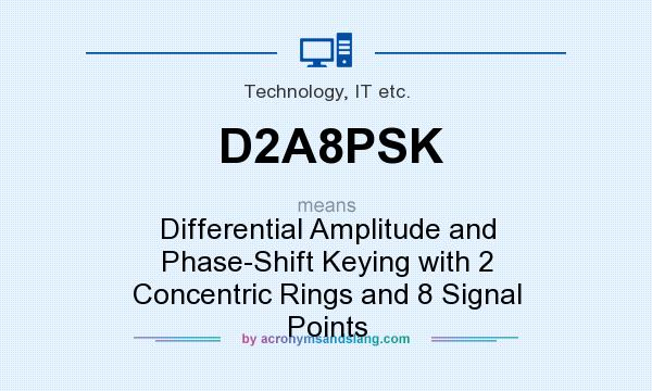 What does D2A8PSK mean? It stands for Differential Amplitude and Phase-Shift Keying with 2 Concentric Rings and 8 Signal Points