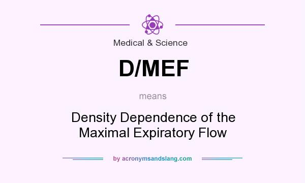 What does D/MEF mean? It stands for Density Dependence of the Maximal Expiratory Flow