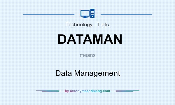 What does DATAMAN mean? It stands for Data Management