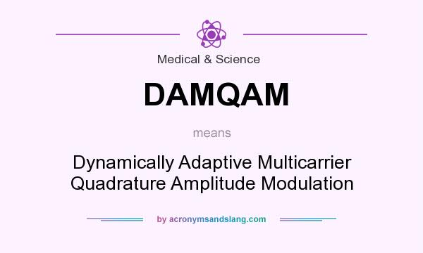 What does DAMQAM mean? It stands for Dynamically Adaptive Multicarrier Quadrature Amplitude Modulation