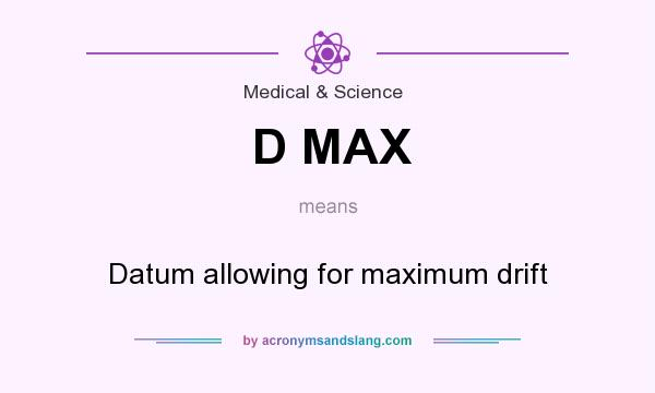 What does D MAX mean? It stands for Datum allowing for maximum drift