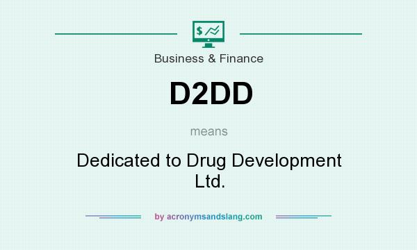 What does D2DD mean? It stands for Dedicated to Drug Development Ltd.