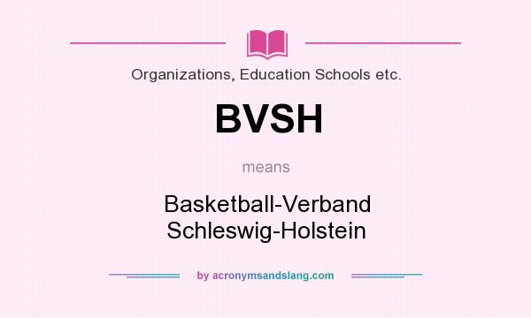 What does BVSH mean? It stands for Basketball-Verband Schleswig-Holstein