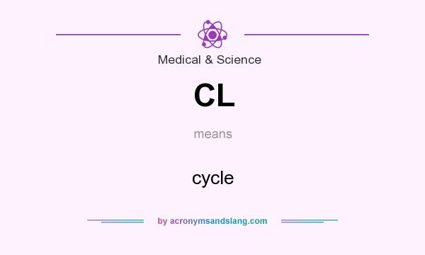 What does CL mean? It stands for cycle
