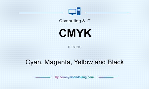 What does CMYK mean? It stands for Cyan, Magenta, Yellow and Black