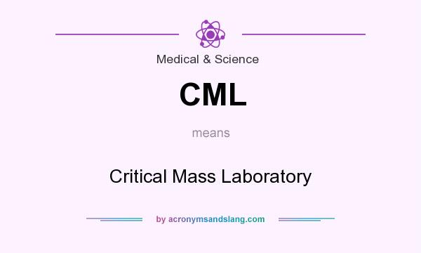 What does CML mean? It stands for Critical Mass Laboratory
