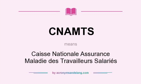 What does CNAMTS mean? It stands for Caisse Nationale Assurance Maladie des Travailleurs Salariés