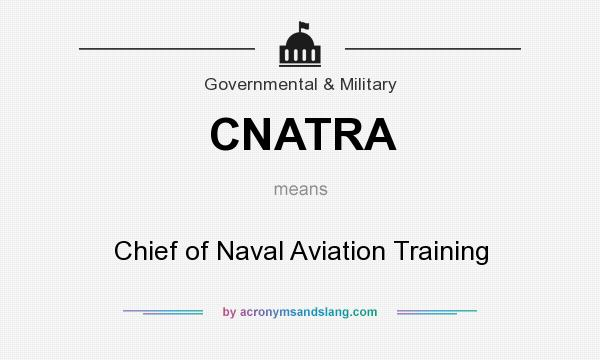What does CNATRA mean? It stands for Chief of Naval Aviation Training