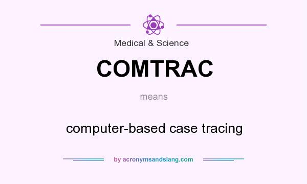 What does COMTRAC mean? It stands for computer-based case tracing