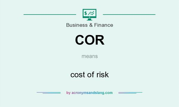 What does COR mean? It stands for cost of risk
