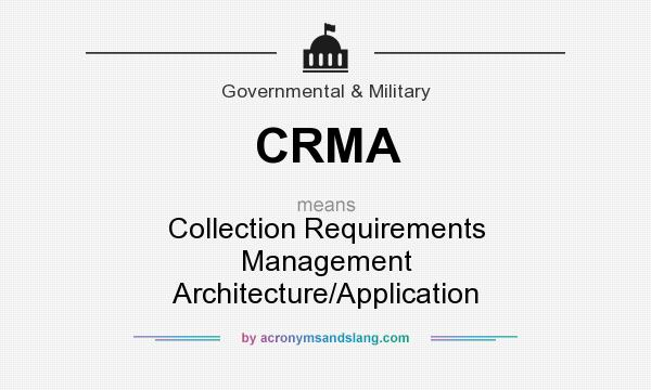 Crma collection requirements management architecture for What does architecture mean