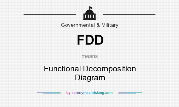 Fdd Functional Decomposition Diagram In Government Military By