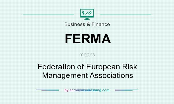 What does FERMA mean? It stands for Federation of European Risk Management Associations