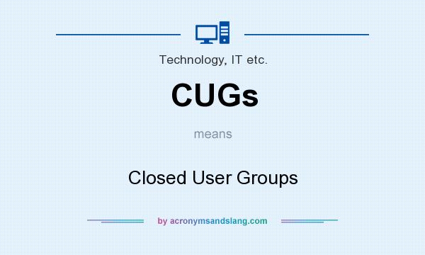 What does CUGs mean? It stands for Closed User Groups